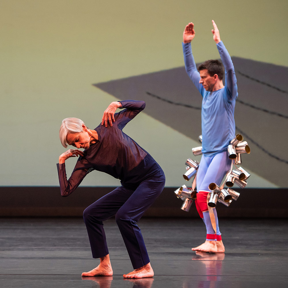 Siobhan Davies and Billy Trevitt in London's Night of 100 Solos.© Stephen Wright. (Click image for larger version)