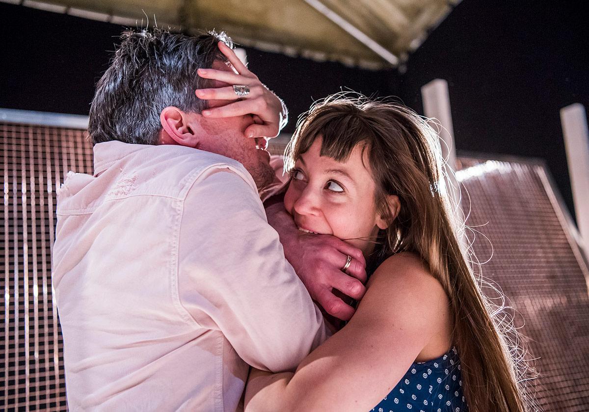 Ben Duke and Solene Weinachter in Juliet & Romeo.© Tristram Kenton. (Click image for larger version)