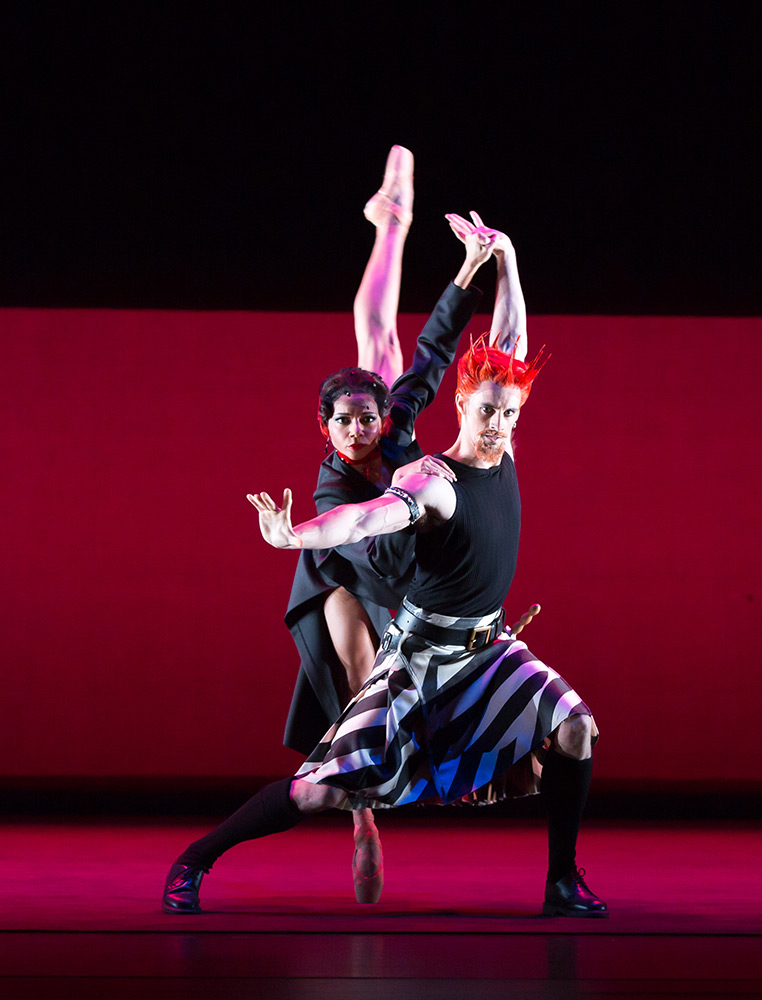 "Céline Gittens (Lady Macbeth) and Iain Mackay (Macbeth) in Jasper Conran designs for David Bintley's <I>The Shakespeare Suite</I>.<br />© Andrew Ross, courtesy <a href=""https://www.brb.org.uk/hires/production/shakespeare-suite"">Birmingham Royal Ballet</a> (Click image for larger version)"