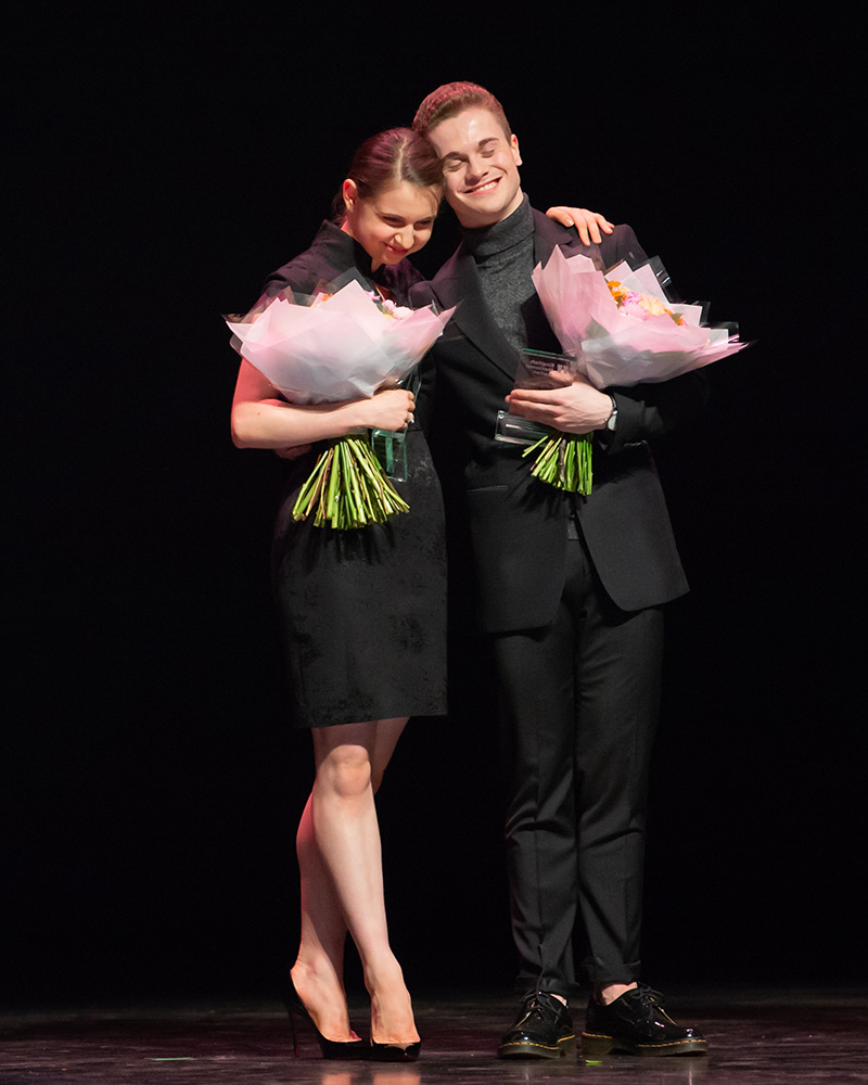 Julia Conway (Emerging Dancer Award winner) and Rhys Antoni Yeomans (People's Choice Award winner).© ASH. (Click image for larger version)