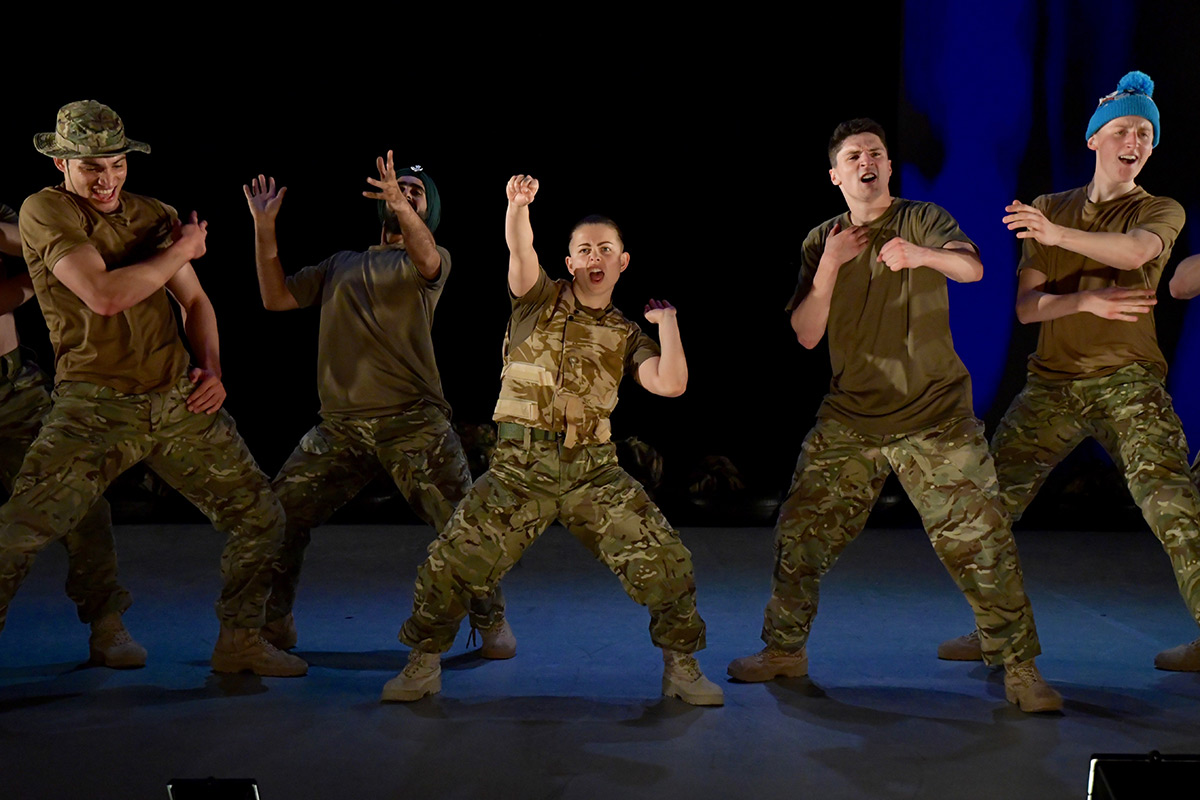Rosie Kay Dance Company in 10 Soldiers.© Birmingham Hippodrome. (Click image for larger version)