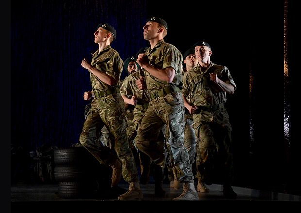 Rosie Kay Dance Company in <I>10 Soldiers</I>.<br />© Birmingham Hippodrome. (Click image for larger version)