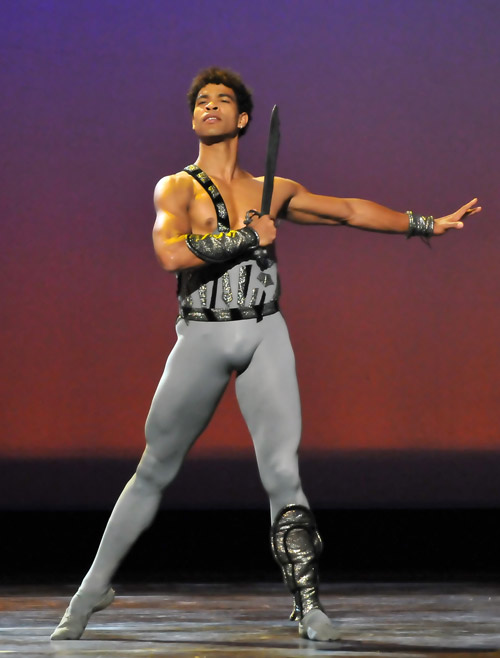 Carlos Acosta as Spartacus.<br />© Dave Morgan.
