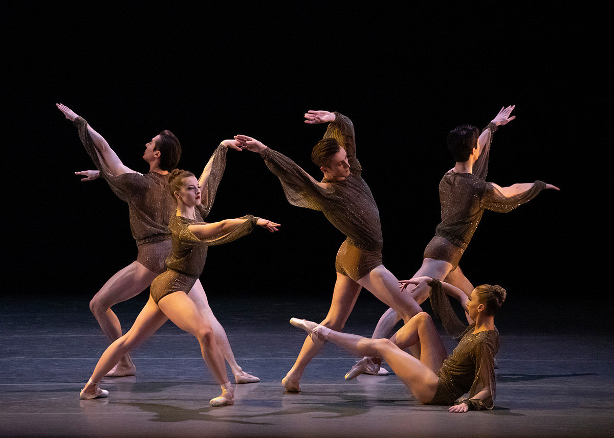 New York City Ballet in Pam Tanowitz's <I>Bartók Ballet</I>.<br />© Erin Baiano. (Click image for larger version)