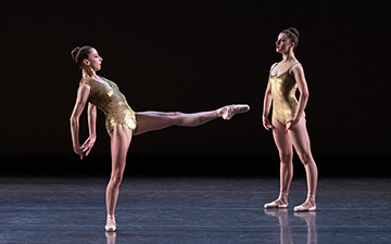 Gretchen Smith and Indiana Woodward in Pam Tanowitz's Bartók Ballet.© Erin Baiano. (Click image for larger version)
