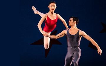 Wona Park and Angelo Greco in Ratmansky's Concerto #1.© Erik Tomasson. (Click image for larger version)