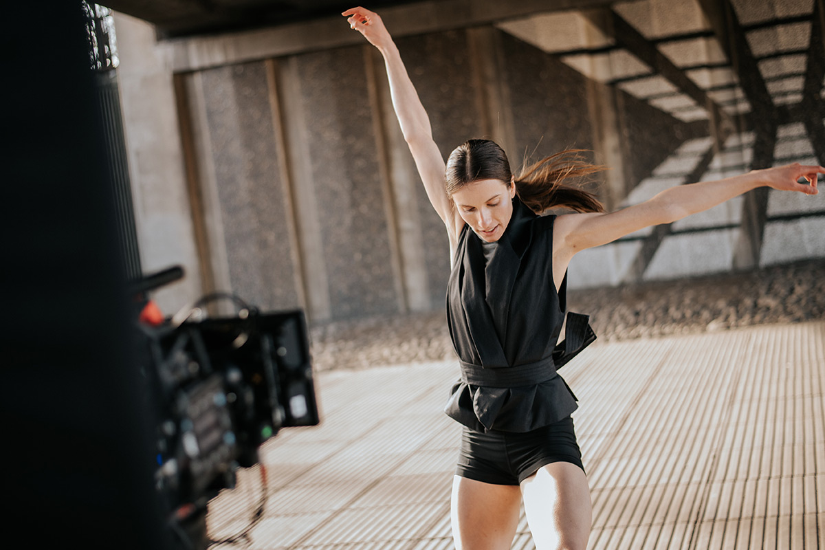 Claire Souet on set for Frontiers.© Mihaela Bodlovic. (Click image for larger version)
