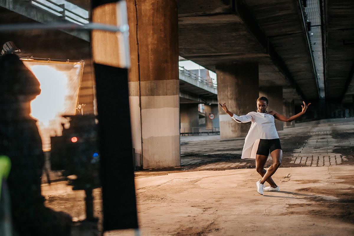 Rishan Benjamin on set for <I>Frontiers</I>.<br />© Mihaela Bodlovic. (Click image for larger version)