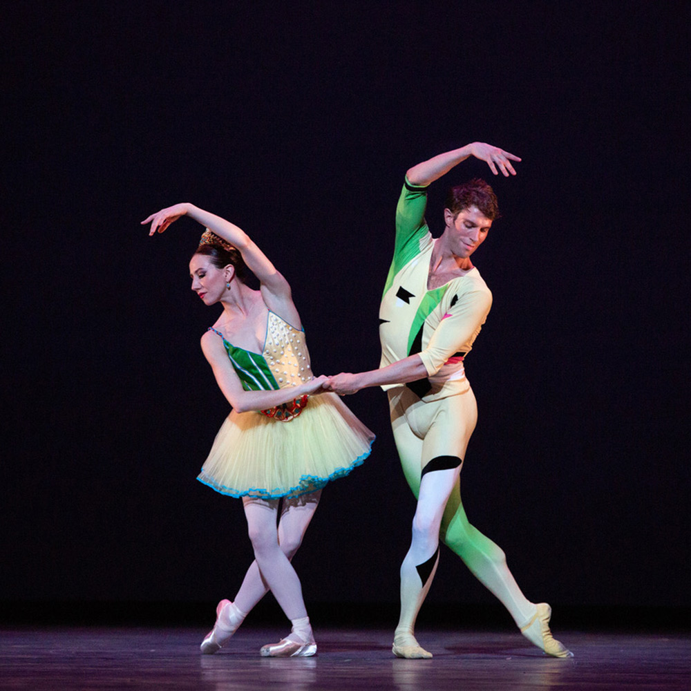 Isabella Boylston and James Whiteside in The Seasons.© Marty Sohl. (Click image for larger version)