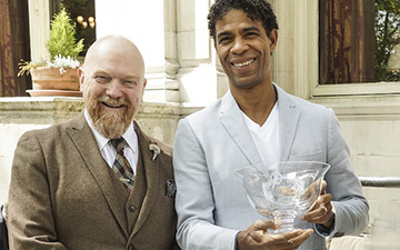 Carlos Acosta CBE with Dance Section Charirman Graham Watts (left) and Mark Shenton, President of the Critics Circle.© Peter Hogan. (Click image for larger version)