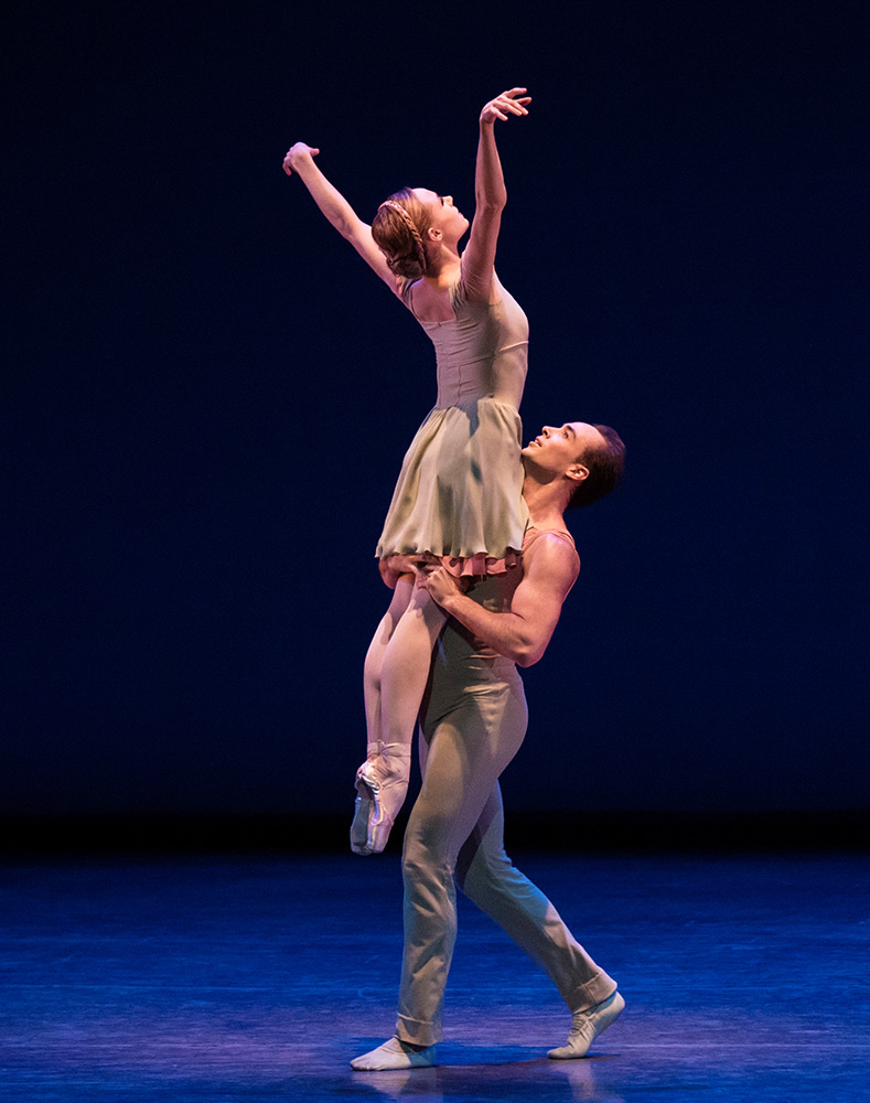 Sara Mearns and Tyler Angle in Ratmansky's Concerto DSCH.© Paul Kolnik. (Click image for larger version)