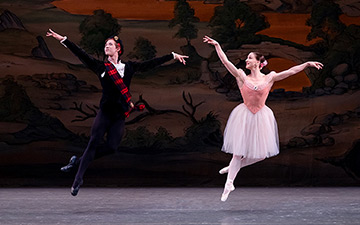 Joseph Gordon and Ashley Bouder in Balanchine's Scotch Symphony.© Paul Kolnik. (Click image for larger version)