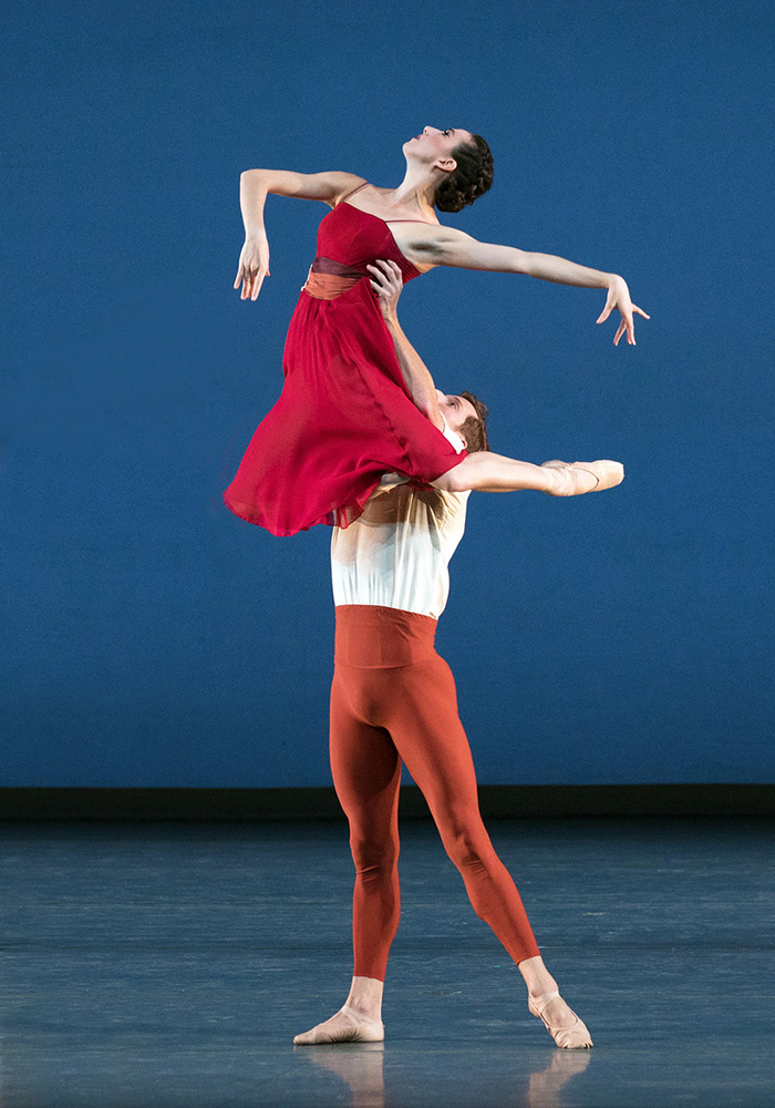 Isabella Boylston and Blaine Hoven in <I>Songs of Bukovina</I>.<br />© Rosalie O'Connor. (Click image for larger version)