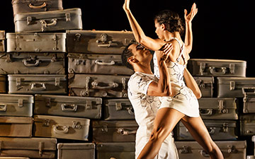 Céline Gittens and Brandon Lawrence in Sense of Time.© Bill Cooper. (Click image for larger version)