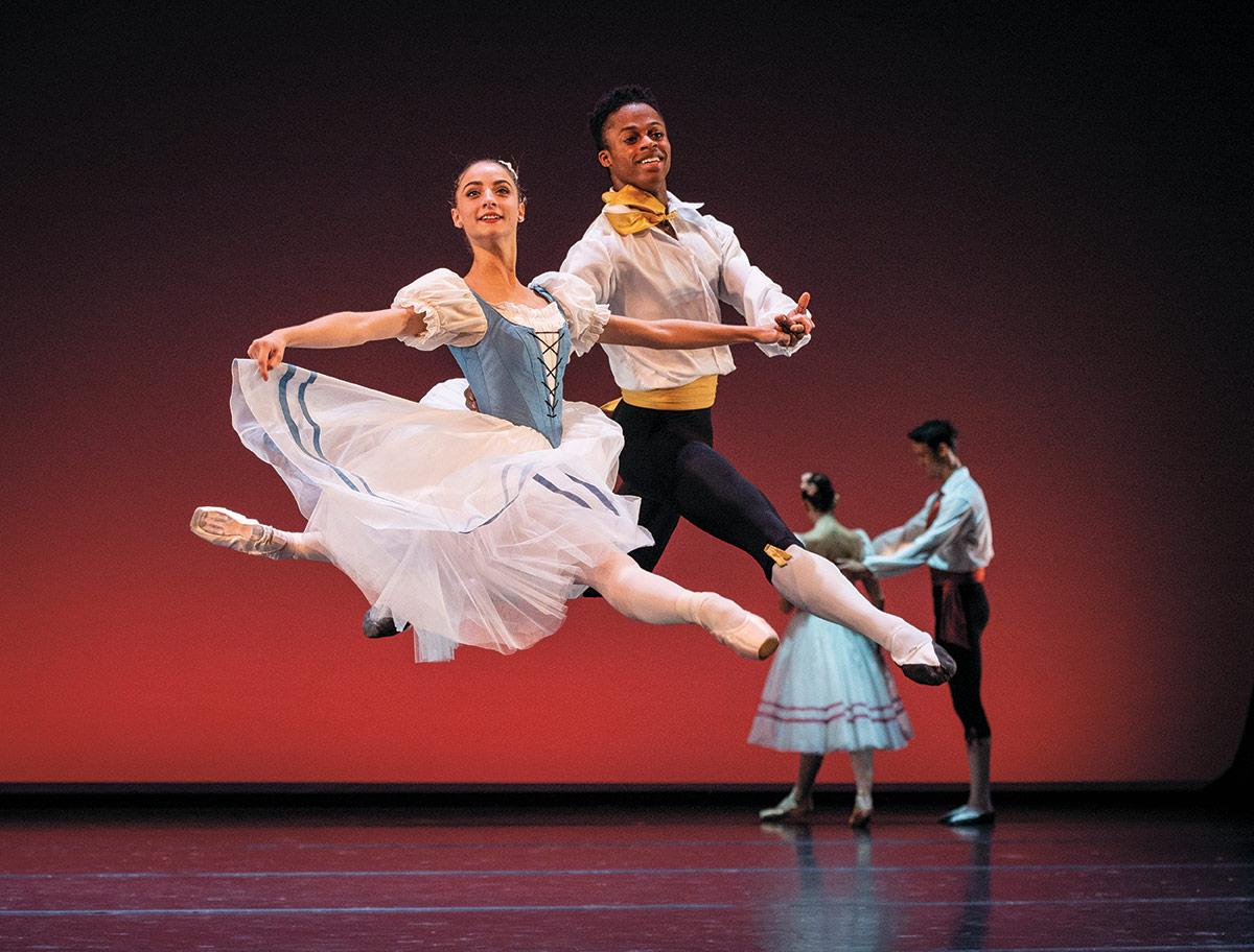 Norwegian National Ballet 2 Pas de Sept from A Folk Tale.© Erik Berg. (Click image for larger version)
