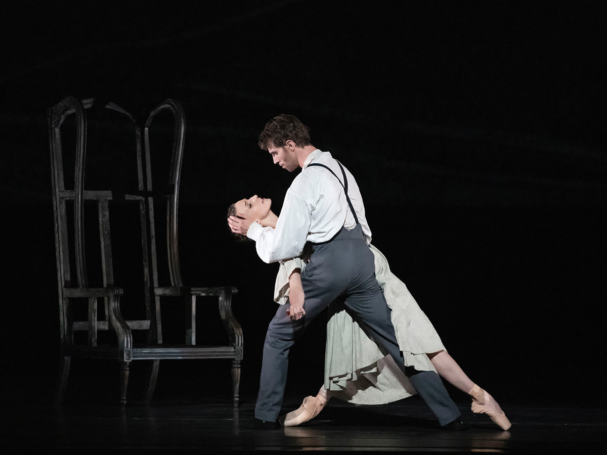 Devon Teuscher and James Whiteside in Jane Eyre.© Gene Schiavone. (Click image for larger version)