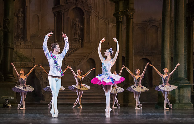 A picture supplied to illustrate RBS at the Young Talent Festival - <I>Aurora's Wedding</I> from the 2018 Royal Ballet School Summer Performance.<br />© Tristram Kenton. (Click image for larger version)