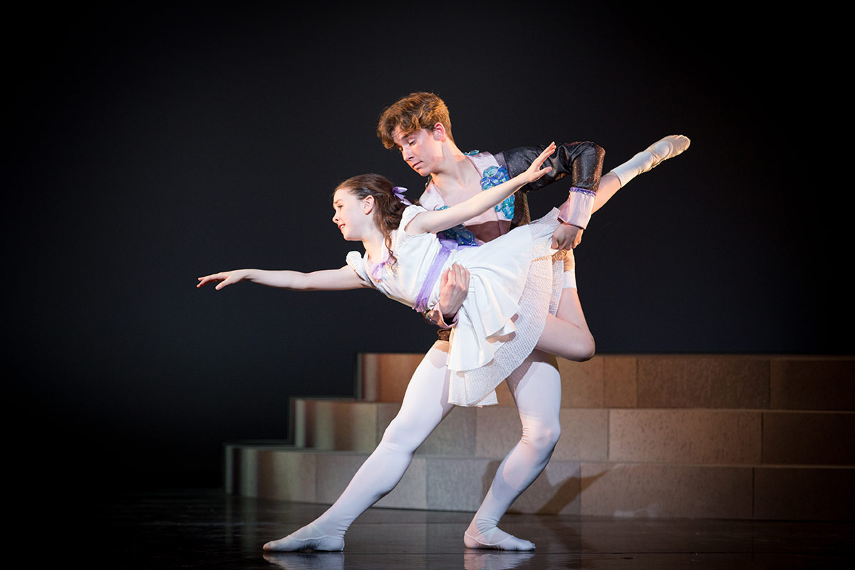 Hugh O'Sullivan and Annalise Wainwright-Jones in Ballet Shoes.© Alice Pennefather. (Click image for larger version)