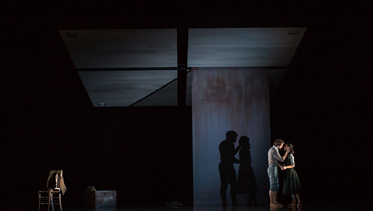 Sophie Martin and Nicholas Shoesmith in The Crucible.© Andy Ross. (Click image for larger version)
