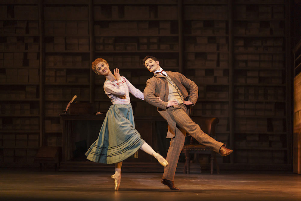 Laura Purkiss and Mathias Dingman in Hobson's Choice.© Bill Cooper. (Click image for larger version)