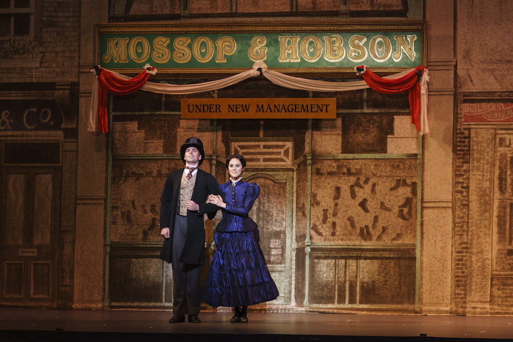 Samara Downs and Lachlan Monaghan in Hobson's Choice.© Bill Cooper. (Click image for larger version)