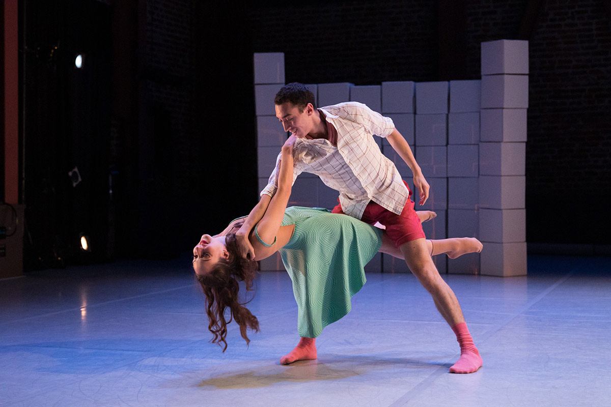 Isaac Bates-Vinueza and Shania Rasmussen in Needham-Wood's All I Ever Knew.© Chris Hardy. (Click image for larger version)