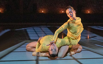 Isaac Bates-Vinueza and Alysia Chang in Seiwert's Verses.© Chris Hardy. (Click image for larger version)