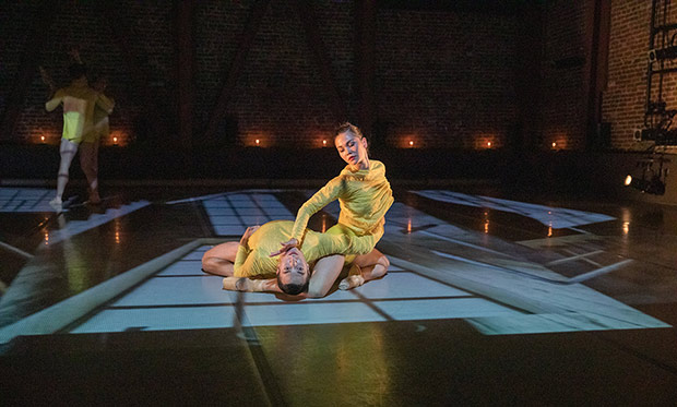 Isaac Bates-Vinueza and Alysia Chang in Seiwert's <I>Verses</I>.<br />© Chris Hardy. (Click image for larger version)