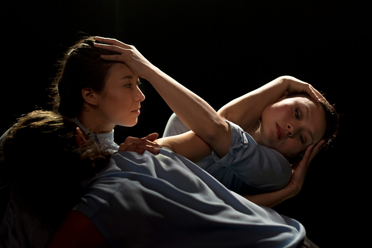 Manon Adrianow and Vanessa Vince-Pang in Amaury Lebrun's <I>Left Unseen</I>.<br />© Drew Forsyth. (Click image for larger version)