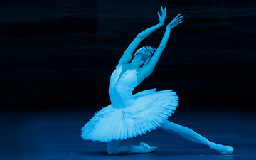 Olga Smirnova in Swan Lake.© Damir Yusupov. (Click image for larger version)
