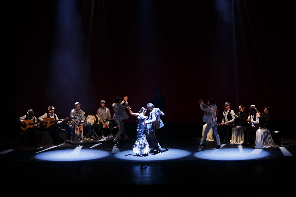 Ballet Flamenco Sara Baras in Sombras.© Santana de Yepes. (Click image for larger version)