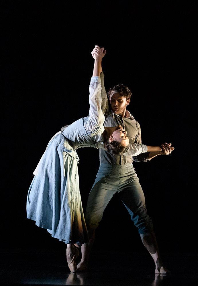 Araminta Wraith and Nicholas Shoesmith in Helen Pickett's The Crucible.© Jane Hobson. (Click image for larger version)