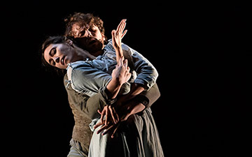 Araminta Wraith and Nick Shoesmith in Helen Pickett's The Crucible.© Jane Hobson. (Click image for larger version)