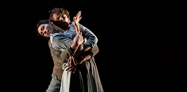 Araminta Wraith and Nick Shoesmith in Helen Pickett's <I>The Crucible</I>.<br />© Jane Hobson. (Click image for larger version)