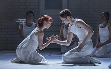 Cordelia Braithwaite and Paris Fitzpatrick in Romeo and Juliet.© Johan Persson. (Click image for larger version)