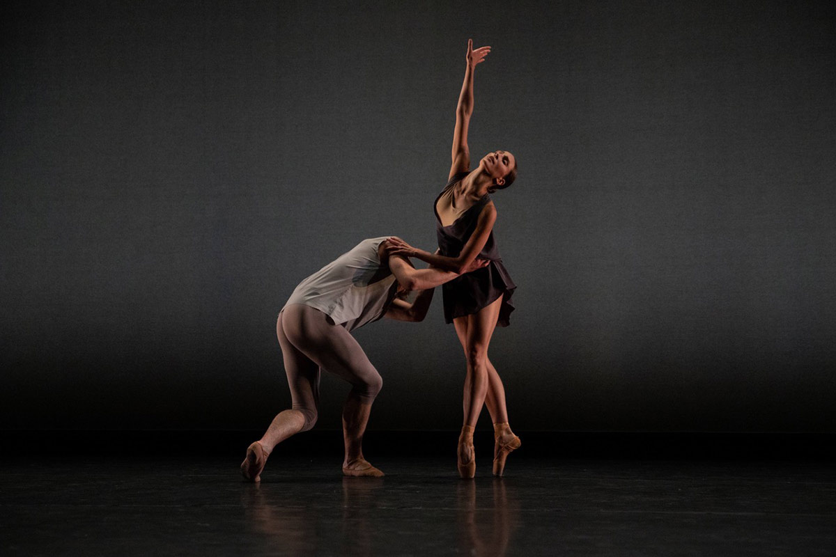 Devon Teuscher and Aran Bell in Gemma Bond's Seventy Two Hours.© Maria Baranova. (Click image for larger version)