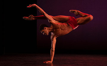 Joseph Sissens in Charlotte Edmonds' jojo.© Maria Baranova. (Click image for larger version)