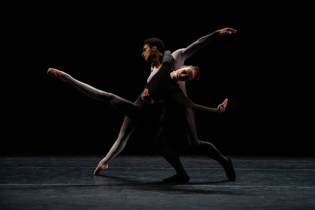 Lauren Cuthbertson and Marelino Sambé in Juliano Nuñes' <I>Two Sides Of</I>.<br />© Maria Baranova. (Click image for larger version)