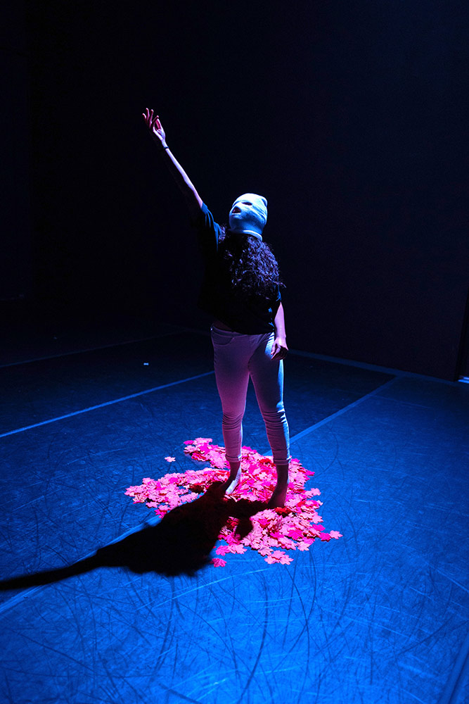 Claire Fisher in Dazaun Soleyn's a message of truths.© Robbie Sweeny. (Click image for larger version)