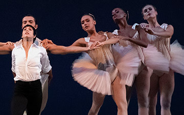 Georgina Pazcoguin and Company in Lauren Lovette's The Shaded Line.© Erin Baiano. (Click image for larger version)