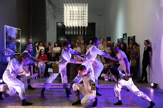 Margaret Jenkins Dance Company in <I>Trace Figures</I>.<br />© Margo Moritz. (Click image for larger version)