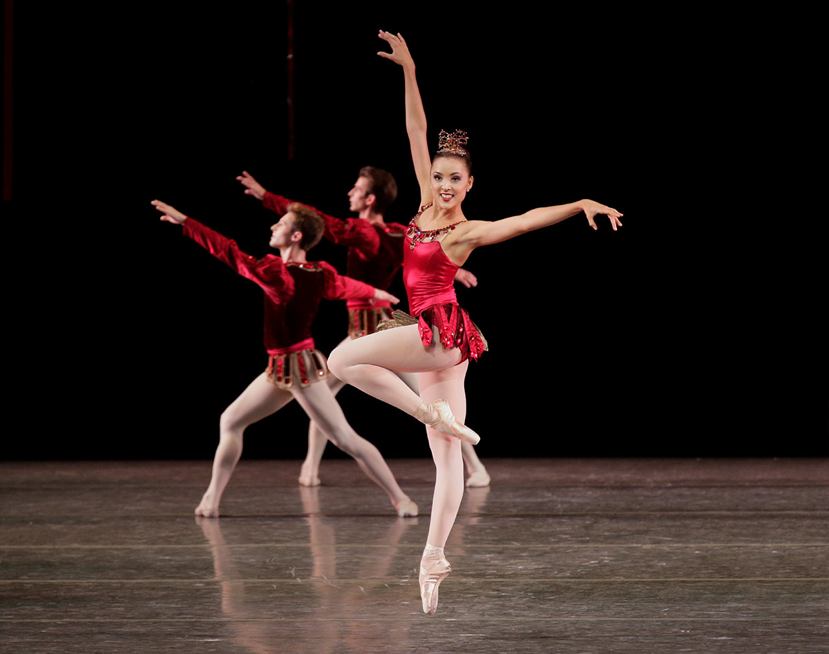 Emily Kikta in Rubies from George Balanchine's Jewels.© Paul Kolnik. (Click image for larger version)