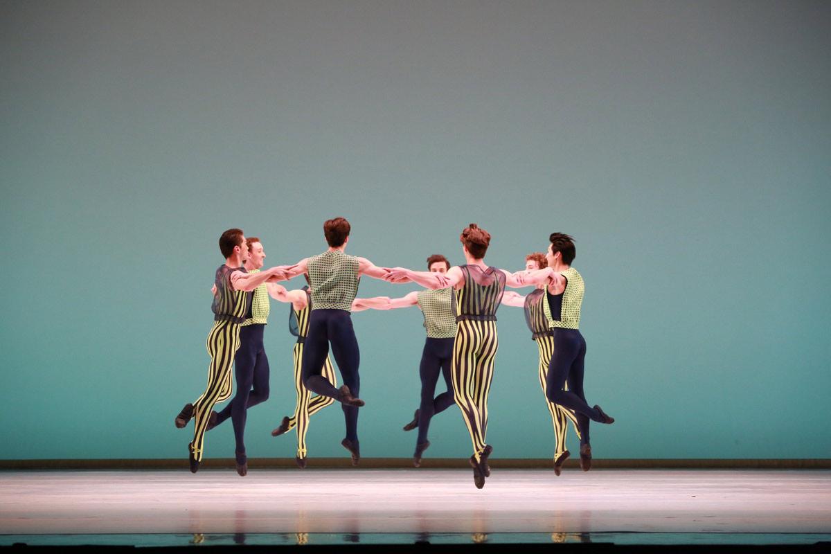 Houston Ballet in Mark Morris's The Letter V.© Amitava Sarkar. (Click image for larger version)