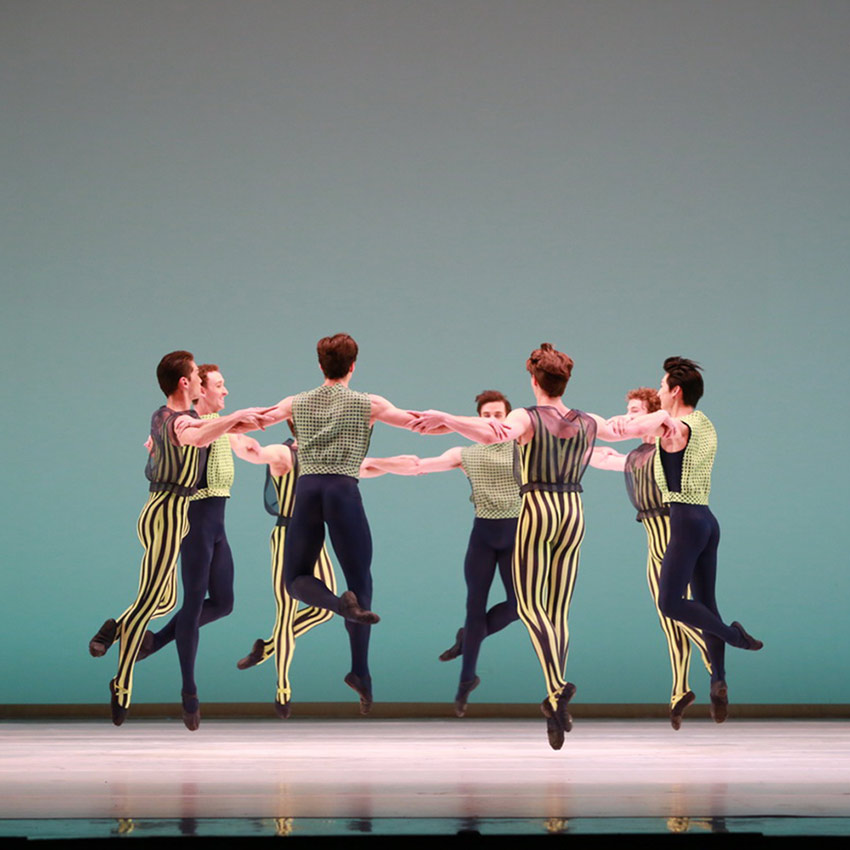Houston Ballet in Mark Morris's The Letter V.© Amitava Sarkar. (Click image for larger version)