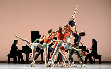 Houston Ballet in Justin Peck's Reflections.© Amitava Sarkar. (Click image for larger version)