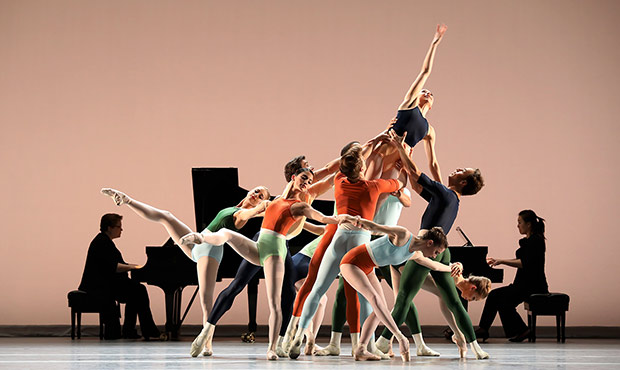 Houston Ballet in Justin Peck's <I>Reflections</I>.<br />© Amitava Sarkar. (Click image for larger version)