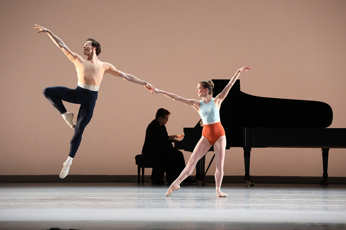 Melody Mennite and Connor Walsh in Justin Peck's <I>Reflections</I>.<br />© Amitava Sarkar. (Click image for larger version)