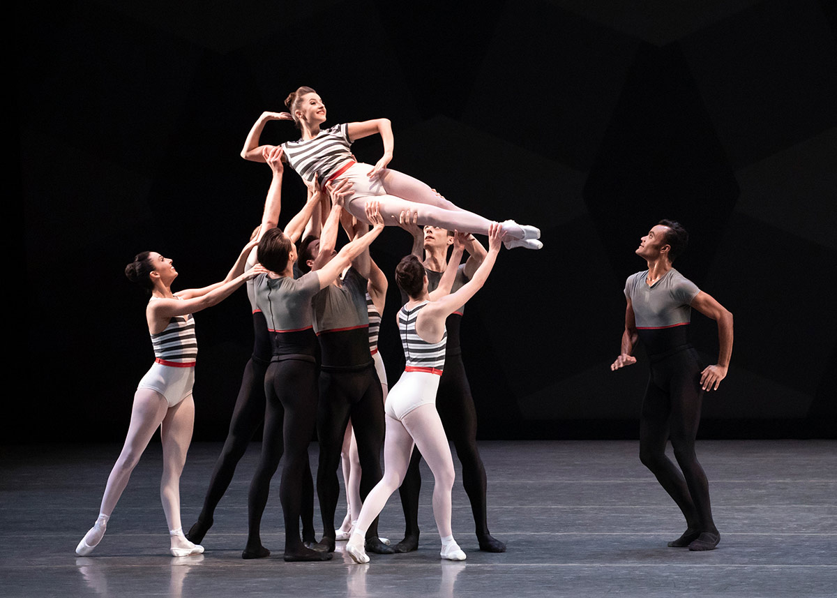 Indiana Woodward, Taylor Stanley, and Company in Peck's Everywhere We Go.© Erin Baiano. (Click image for larger version)