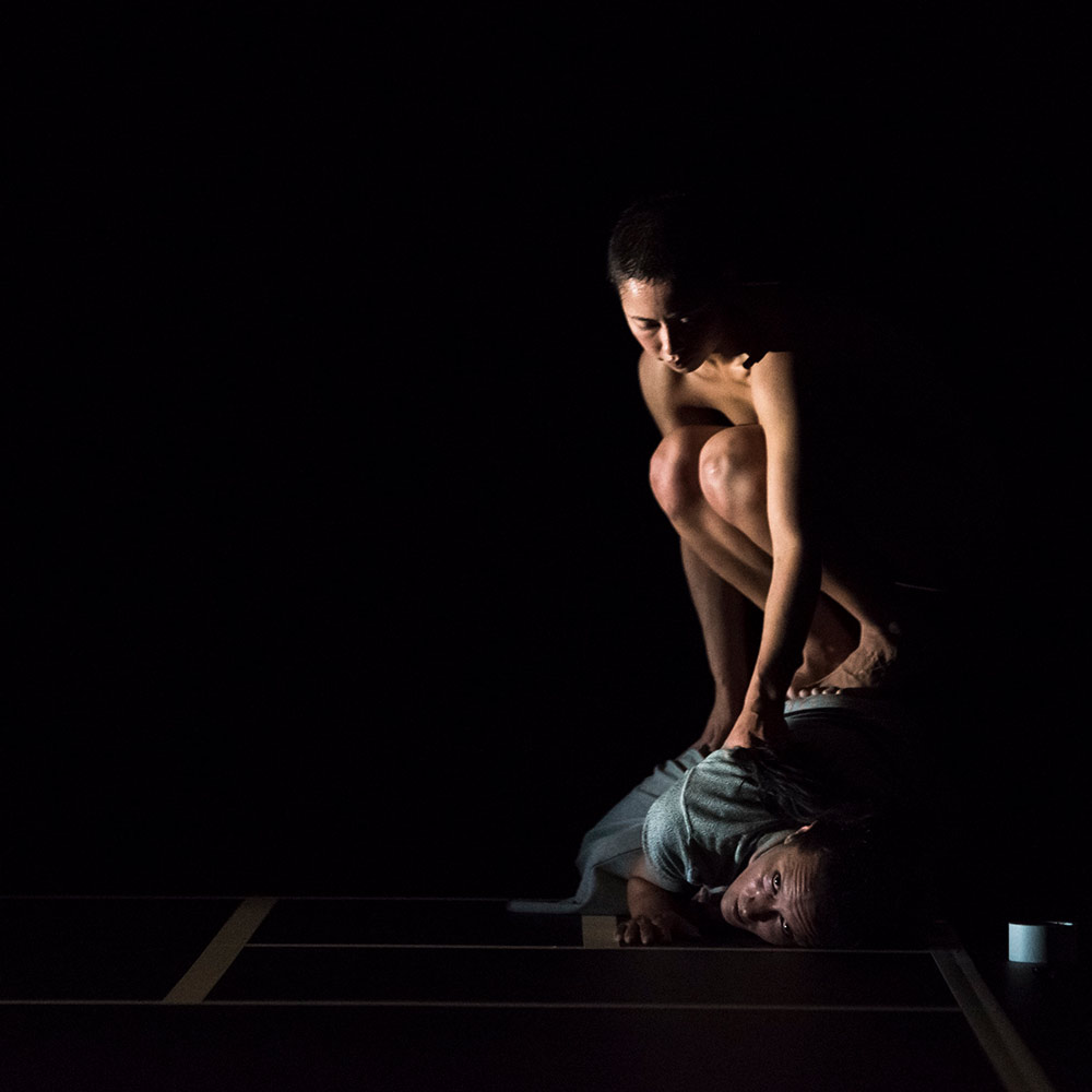Ashley McLellan and Lilian Steiner in Lucy Guerin's Split.© Gregory Lorenzutti. (Click image for larger version)
