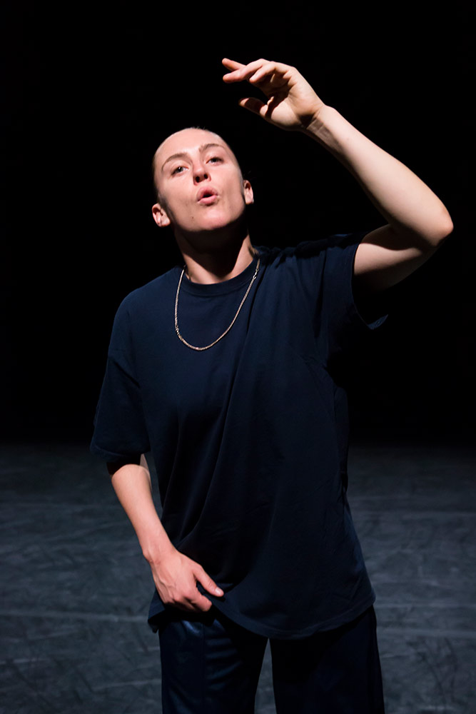 Oona Doherty in Hope Hunt & The Ascension Into Lazarus.© Maria Falconer. (Click image for larger version)
